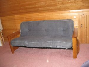 Futon With Wooden Ends