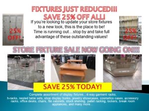 25% OFF STORE FIXTURES! SEARS STORE CLOSING SALE!