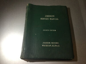 Johnson 2.5 to 40 HP Outboard 1&2 cyl Service Manual up to 1964