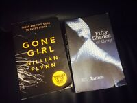 Fifty shades of grey and Gone girl books