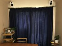 "Navy curtains 90x90"""