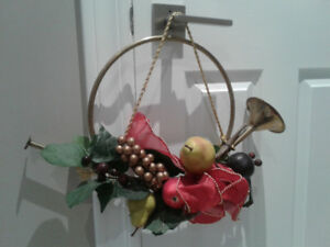 Christmas Brass French Horn Wreath