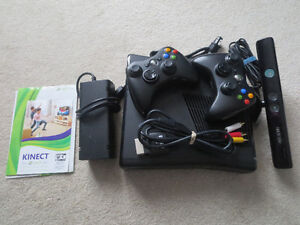 X BOX 360 w. Kinect and 16 games