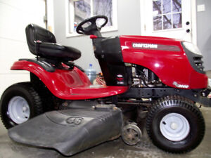 lawn tractor 21 hp craftsman 46 inch cut automatic