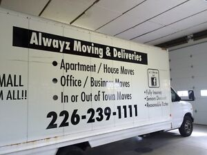ALWAYZ MOVING & DELIVERIES London Ontario image 1