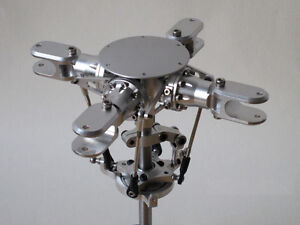 4 Blades Scale Rotor Head for 500 Size Scale Helicopter, Flybarless Rotor Head