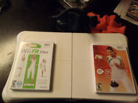 wii fit board with game and wii active