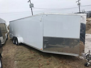 7x29 Drive in and out Snowmobile trailer