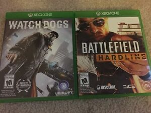 Battlefield Hardline and Watch Dogs Xbox one