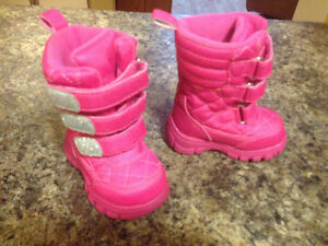 2 Pairs Snow/winter baby girl boots VGUC!