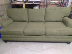 Sage green couch