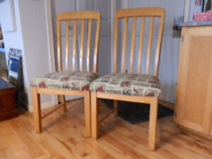 Two kitchen chairs Excellent Condition