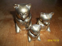 Brass set of 3 bears. New Price!