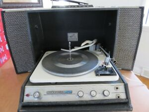 RCA Victor Phonograph with speakers
