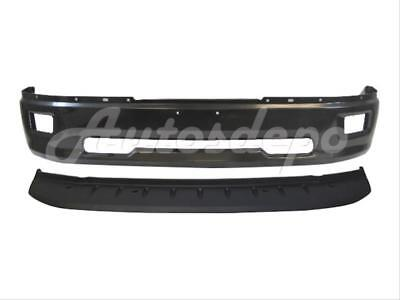For 09-12 11 10 DODGE PICKUP RAM 1500 FRONT BUMPER BAR BLK & VALANCE W/FOG HO 2