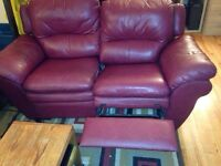 $50 2 seater leather reclining couch