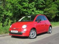 2015 15 FIAT 500 1.2 CULT 3D 69 BHP RED HATCHBACK FULL SERVICE HISTORY