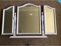 Ladies dressing mirror and stool. Shabby chic