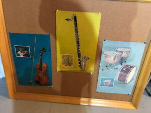 10 BOWMAR RECORDS 1961 MUSICAL INSTRUMENTS CARDBOARD DISPLAYS