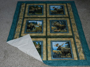for sale a New Moose quilt/throw