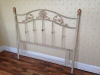 FREE!! Ornate cream/gold Metal Double Bed Headboard FREE!!