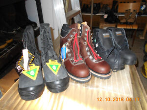 NEW MEN'S SIZE 8 SAFETY CSA STEEL TOE WORK BOOTS + SHOES $50