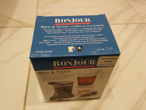 Brand NEW Bonjour Brew & Touch Coffee & Tea Maker (4 cups)