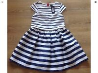 10-11 Years Girls navy and cream dress marks and Spencer's