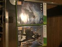 Halo 4 & destiny Xbox 360 games