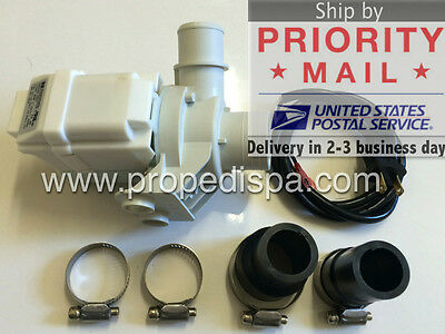 Power drain / discharge pump motor for pedicure spa chair nail salon / hot tub, used for sale  USA