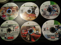 6 Xbox 360 games $25 or best offer in Ottawa also have Gta 5 $25