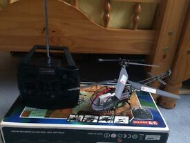 RX HELICOPTER WITH BOX CHARGER MANUALS ETC