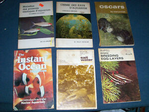 LOT OF 6 TROPICAL FISH SOFTCOVER-ENGLISH/FRENCH-1960-70S