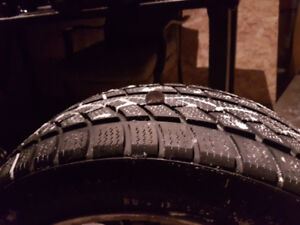 Bmw winter tires and rims 205/50r17 5x120 bolt pattern.