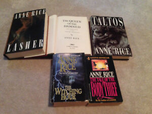 5 Anne Rice Books For Sale!