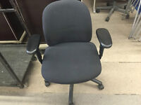 USED BLACK OFFICE CHAIRS  $80EACH