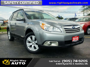 2010 Subaru Outback Limited   SAFETY CERTIFIED