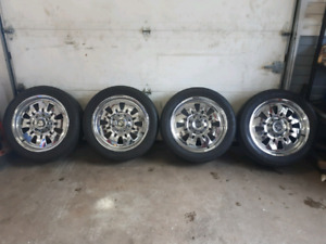 20x7 Centerline chrome rims for Chevy truck