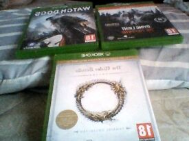Xbox one dying light, watch dogs, the elder scrolls online tamriel unlimited!