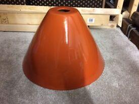 B&Q orange & wood grain light shade