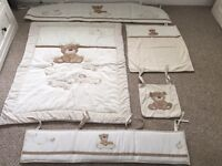 Mothercare loved so much cot quilt, bumpers, cot pocket and crib fleece.