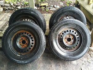 Set of Bridgestone Blizzak WS50 Winter Tires 195/65R14 MUST SELL Cambridge Kitchener Area image 1