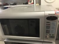 Panasonic Silver Microwave Oven with Grill
