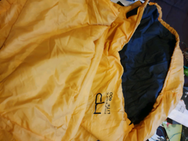 Highpoint Lightweight summer travel sleeping bag yellow