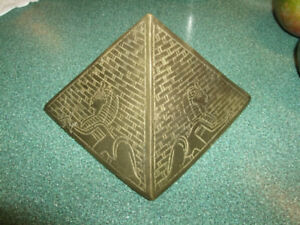 Old Brass Pyamid made in Egypt, heavy piece