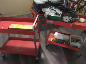 Red Toolcarts.  Sioux Brand Made in Canada