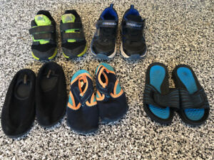 Size 11 toddler - youth boy shoes runners sandals watershoes $25