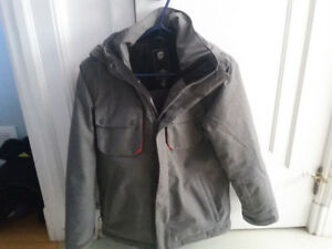 Orange classic gray ski jacket size L /12 youth