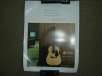 MARTIN GUITAR POSTERS SUITABLE FOR FRAMING