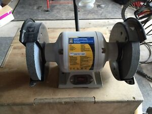 """Power Fist 8"""" Bench Grinder with Light - Like New!!"""